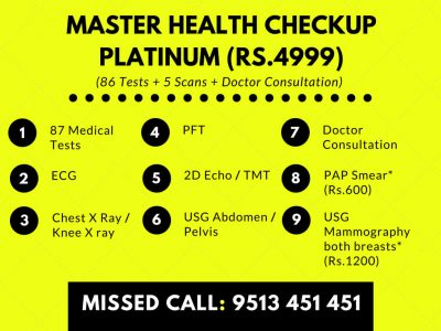 Master Health Checkup Packages - Platinum